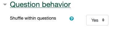 question behavior