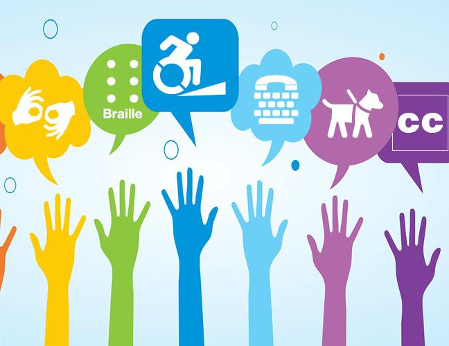 hands raised disability symbols