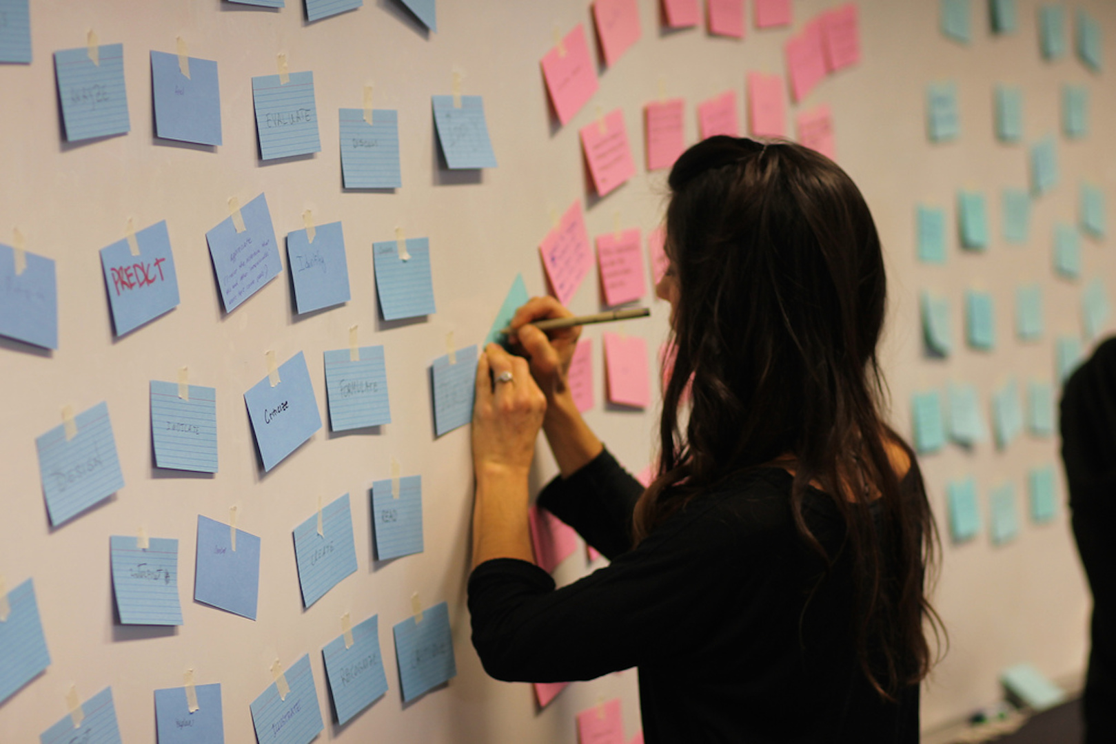 Faculty writing on post-it