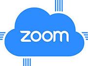 Zoom logo in cloud
