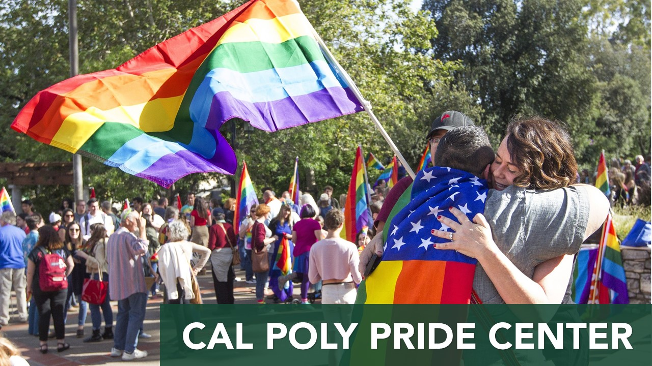SLO Mayor hugs student during pride parade