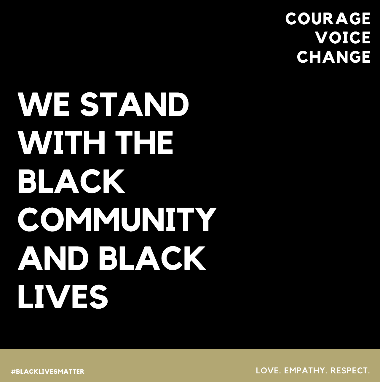 Solidarity with Black Lives