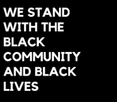 We stand with the Black Community