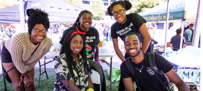 Picture of students at Black Academic Excellence Center booth
