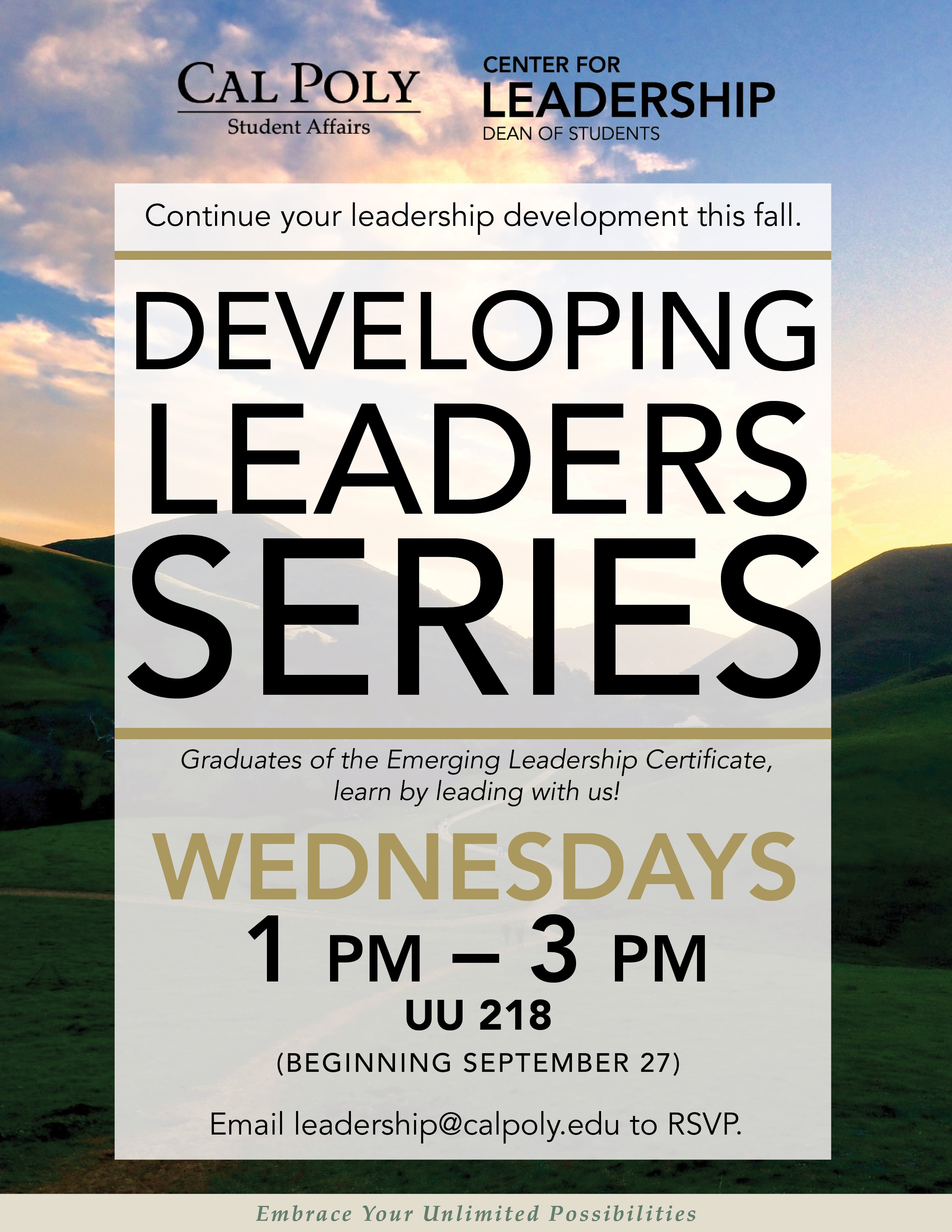 Developing leadership certificate dean of students cal poly winter 2018 developing leaders series offerings 1betcityfo Image collections