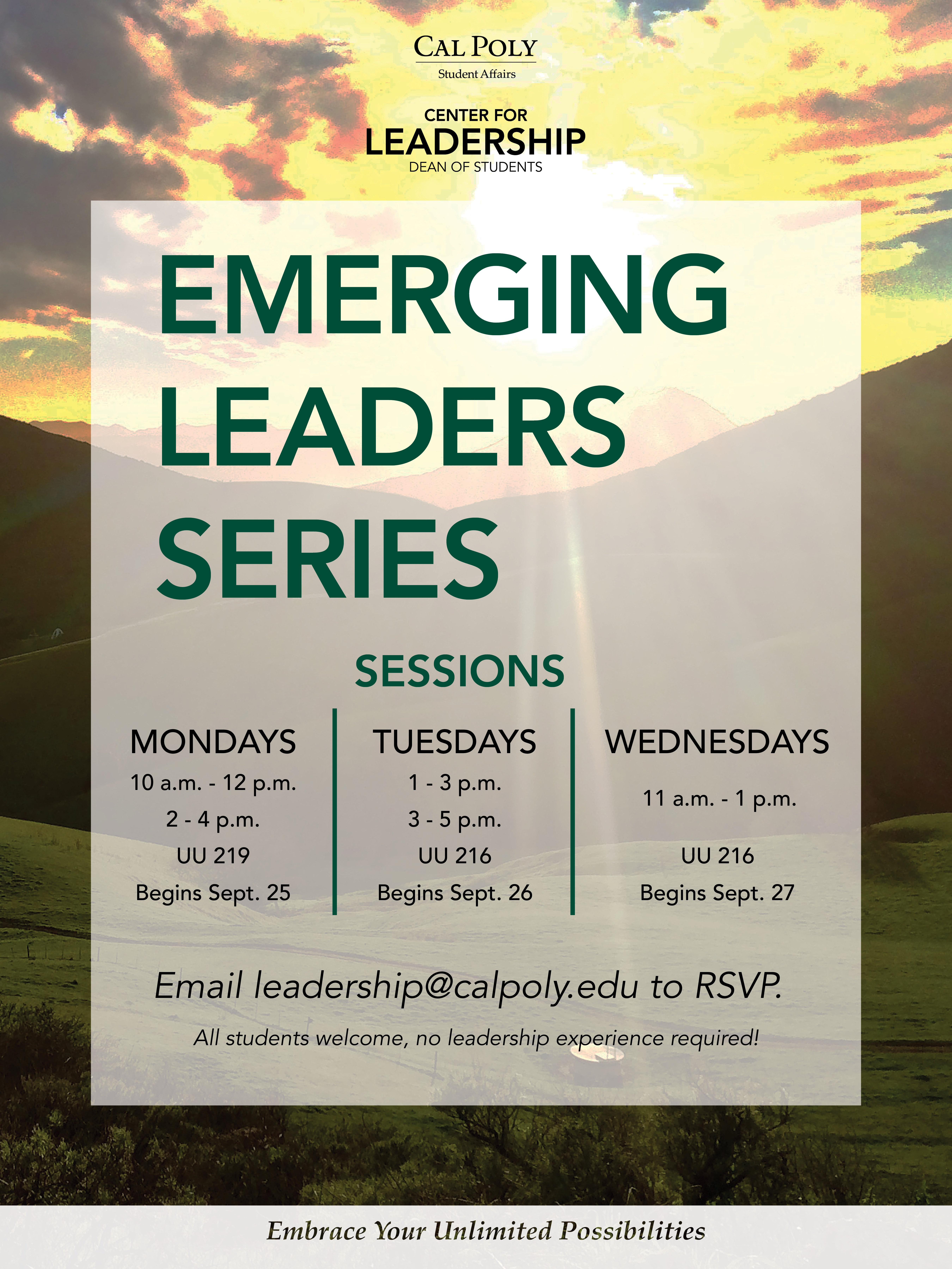 Emerging leadership certificate dean of students cal poly san winter 2018 emerging leaders series offerings 1betcityfo Image collections