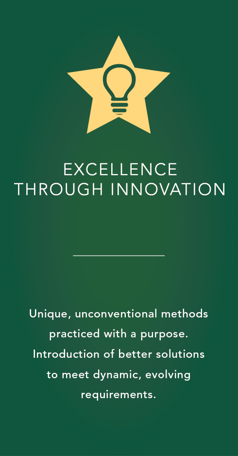 Excellence through innovation icon