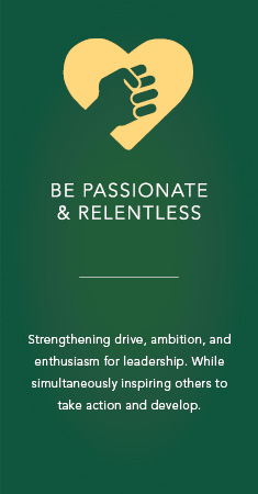 Be passionate and relentless icon