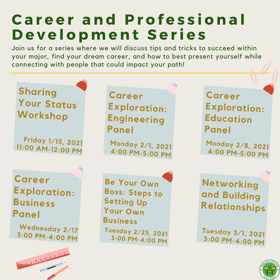 Career and Professional Development Series Flyer