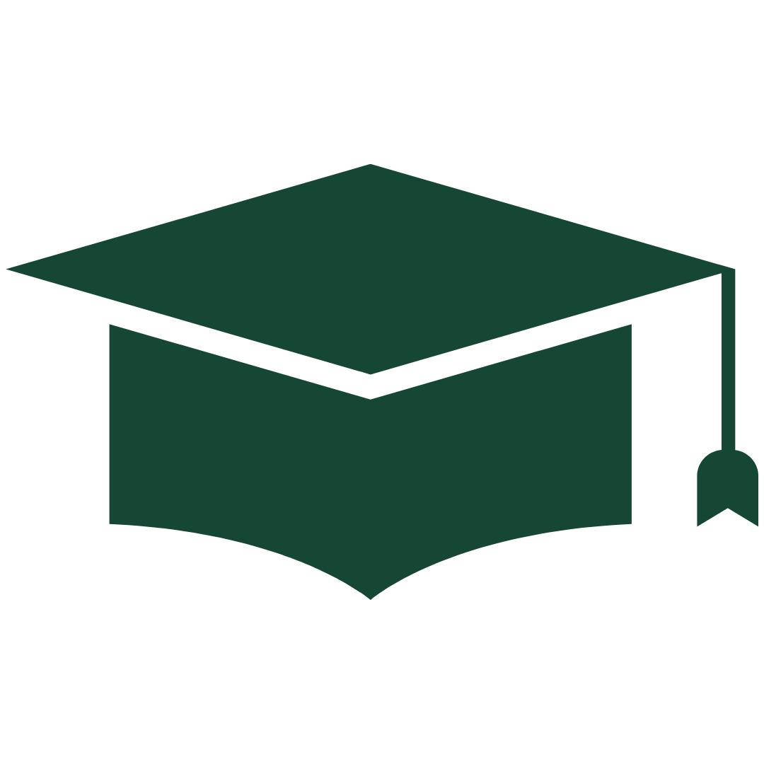 Green Graduation Cap