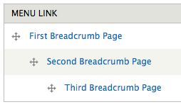 Example of Breadcrumb hierarchy