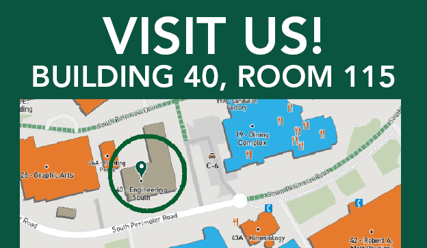 Visit Us! Building 40, Room 115