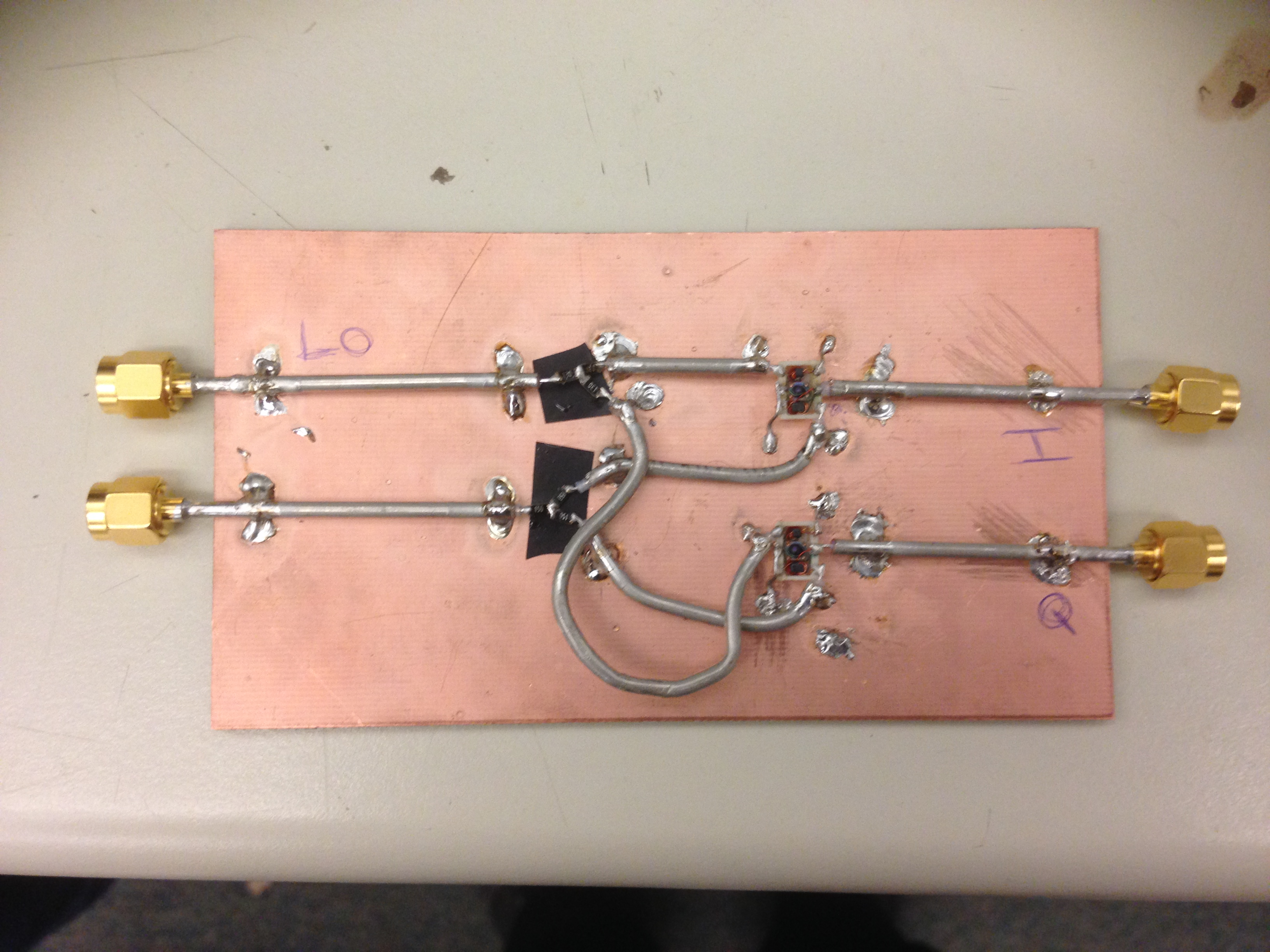 This is an IQ modulator students built in EE456