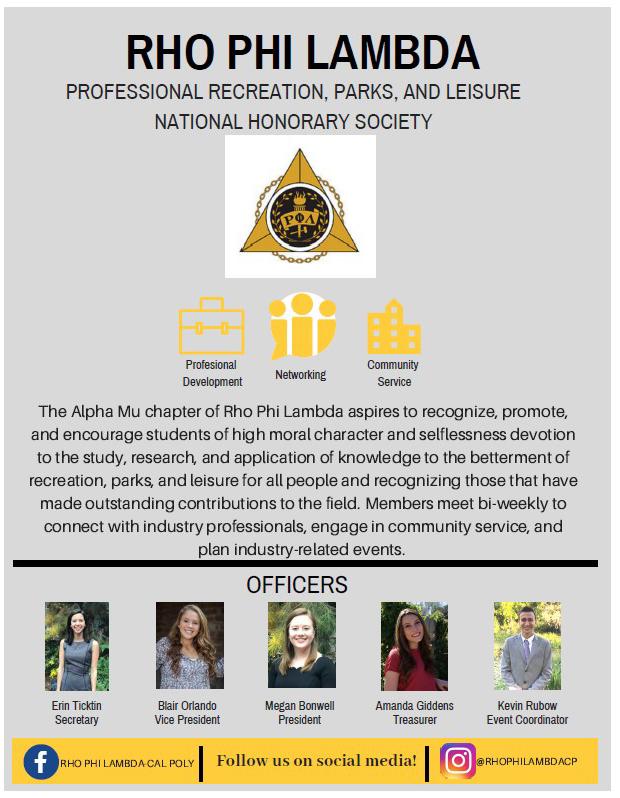 Rho Phi Lamda Honors Officer Team
