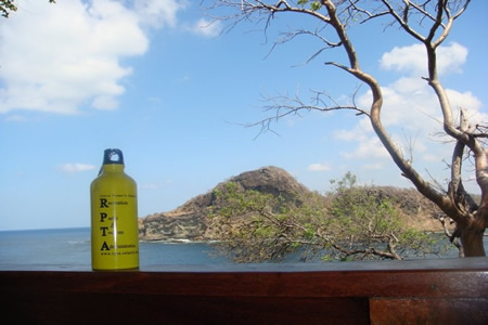 Picture of water bottle in Nicaragua