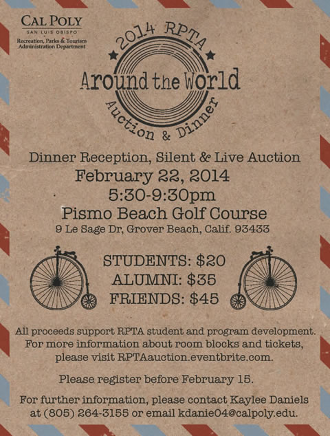 2014 RPTA Annual Auctoin and Dinner Fundraiser invite