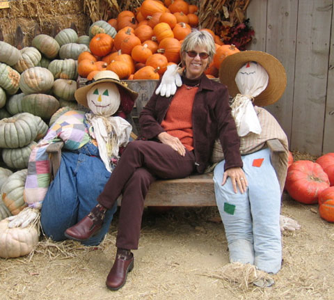 Dr. Carolyn Shank with Pumpkins