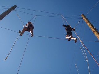 RPTA students on the high ropes course