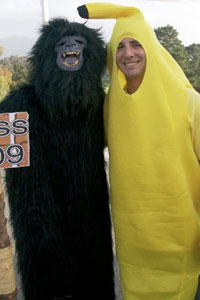 RPTA students dressed in gorilla and banana suit at 2009 banquet