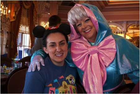 Picture of Mastro (left) at Disney