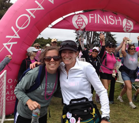 Marni and Renee at the finish line