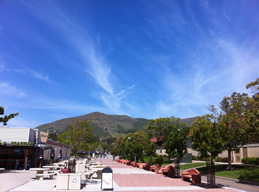 Spring sky at Cal Poly