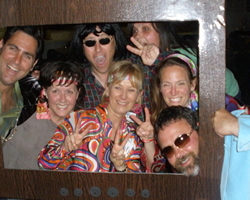 RPTA faculty at one of the annual banquets dressed as hippies