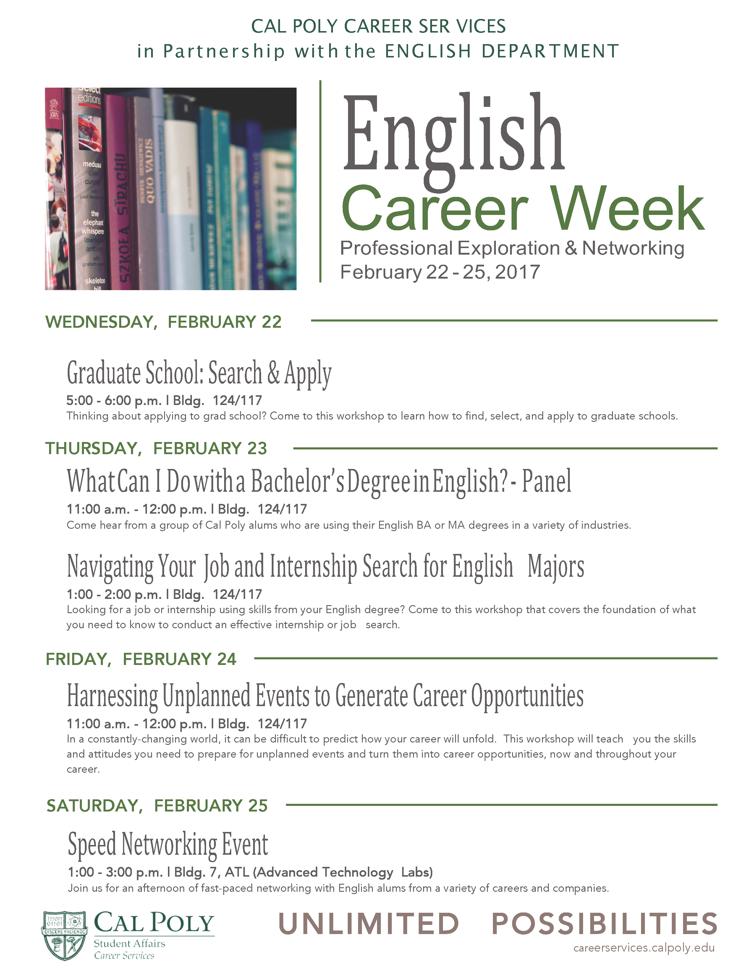 English Career Week Flyer