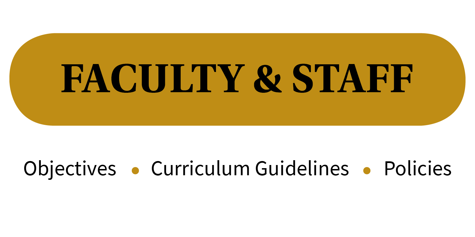 Faculty and Staff -- Objectives, Curriculum Guidelines, Policies