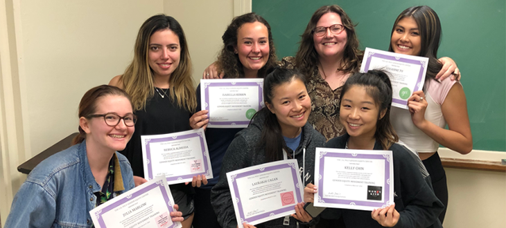 Gender Equity Movement Training class with certificates