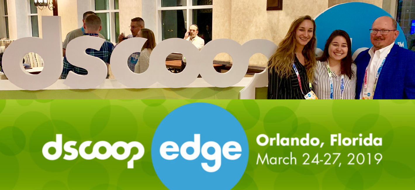 Katie Breed, Liberty Ortiz and Professor Ken Macro at the DSCOOP conference