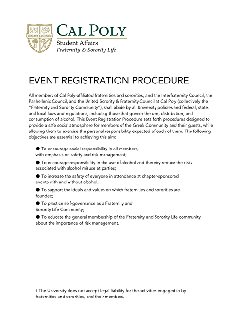 Party Registration Form