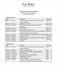 External Review Itinerary June 2018