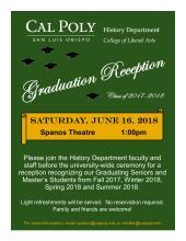 History Department Graduation Reception