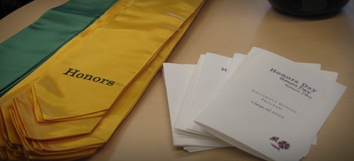 honors sash and brochures