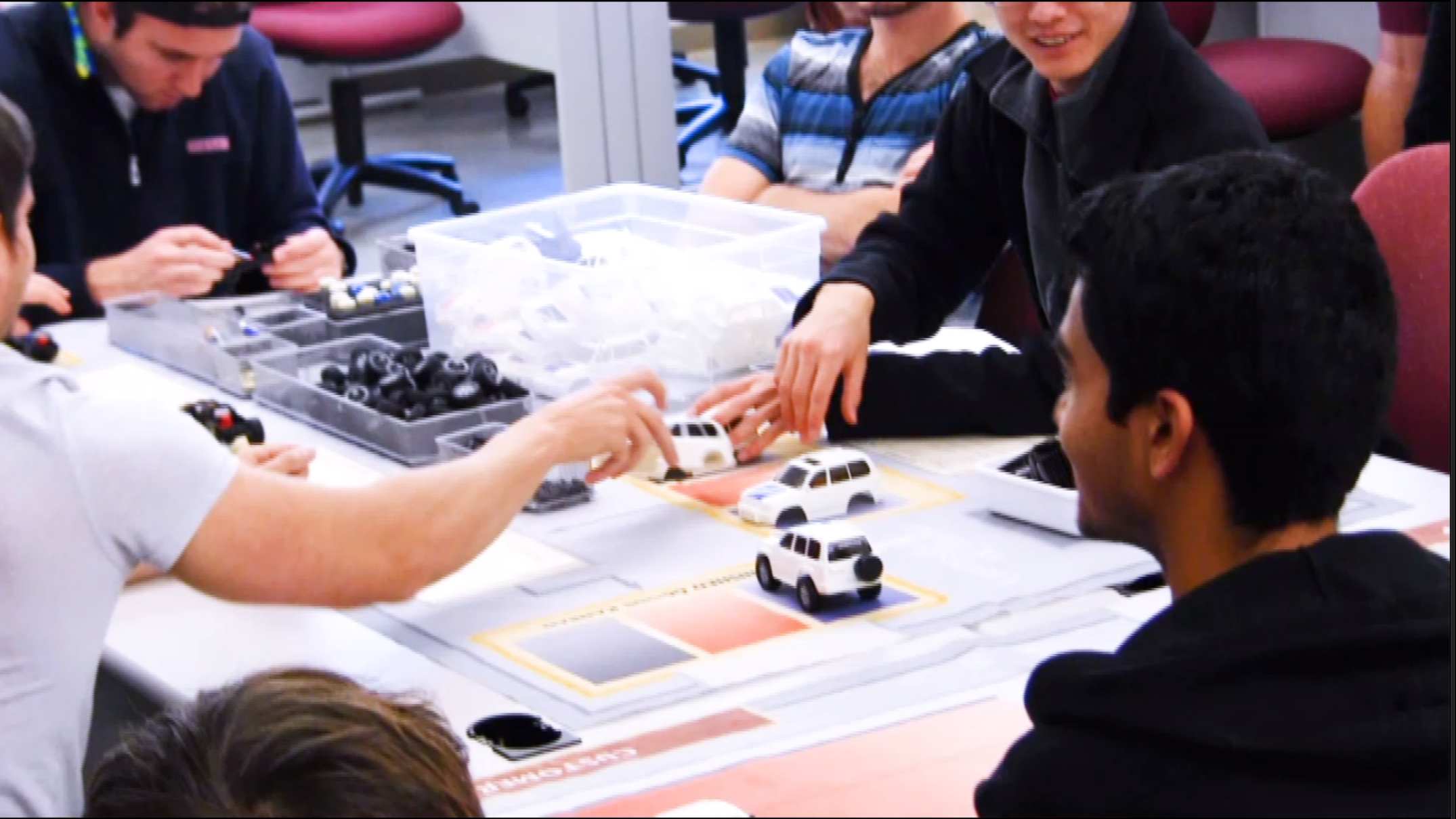 Students in the George Hoffman Industrial Systems Design Lab