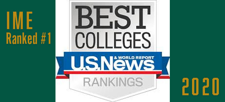 IME Ranked #1 by US News & World Report Second Year in a Row