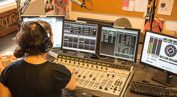 KCPR in studio image