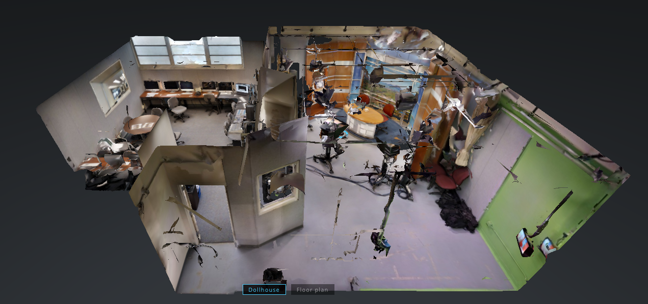 Matterport Dollhouse View of TV Studio