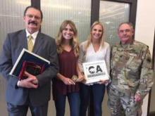 Dr. Dan Eller, Krista Hershfield,  Lindsay Morris and Dr. Kirk Sturm,  staff judge advocate with the  California Military Department