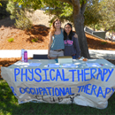 Photo of physical therapy club members at a booth