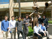 LAES Students outside Warner Brothers studios.