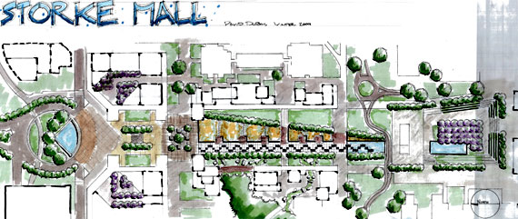 Plan of Storker Mall designed by David Dubois