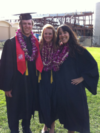 Photo of three LA grads