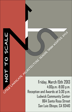 poster of winter 2013 senior show