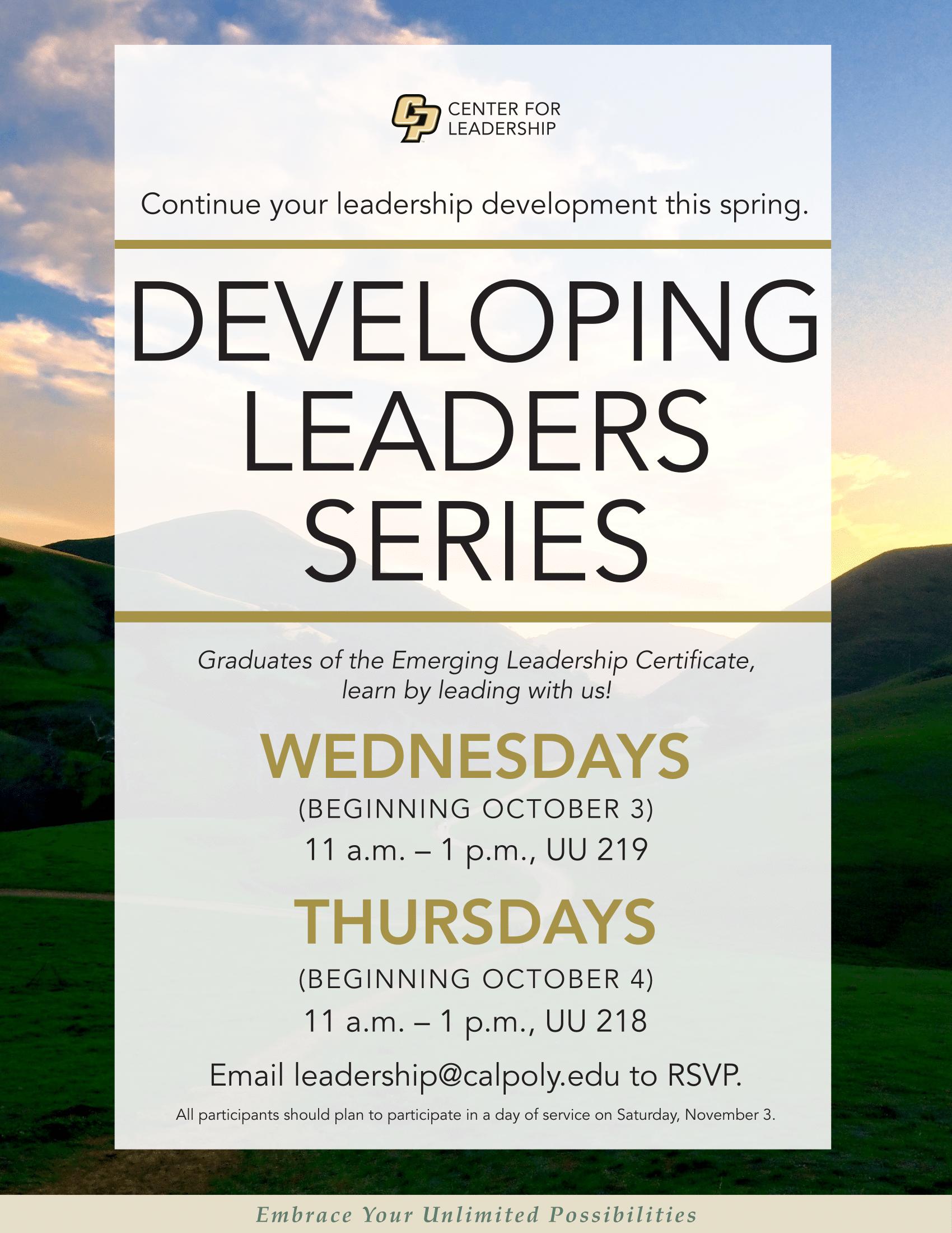 Developing Leaders Series Flyer