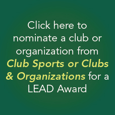Nominate a club or organization from Club Sports or Clubs and Organizations