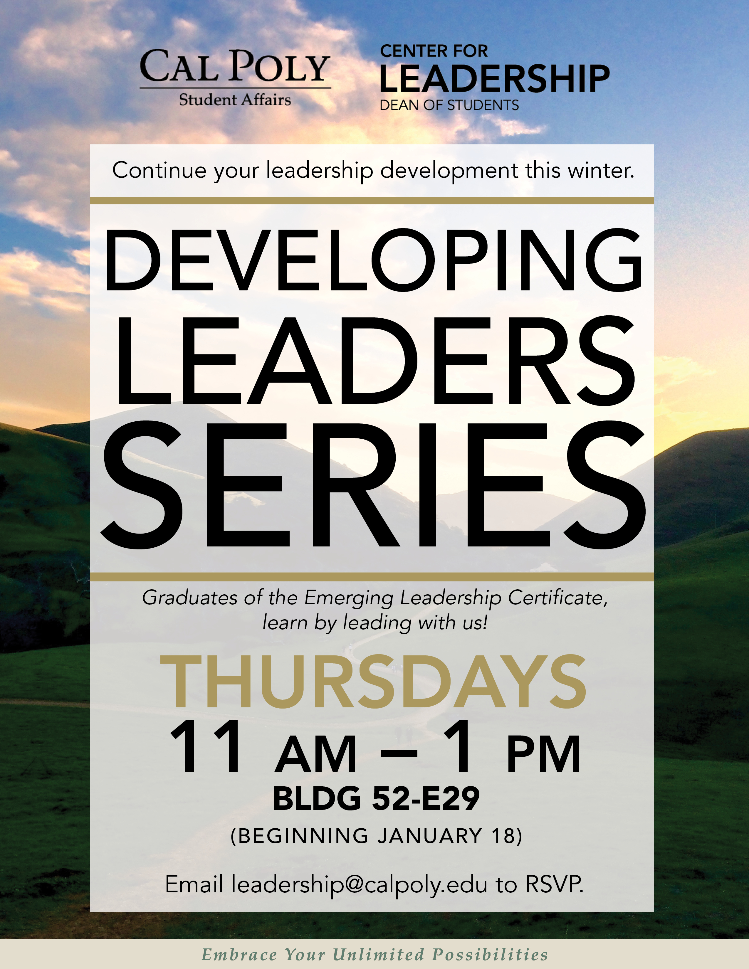 Developing Leaders Series Flyer
