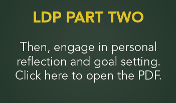LDP Part Two. Then, Engage in personal reflection and goal setting. Click her to open the PDF