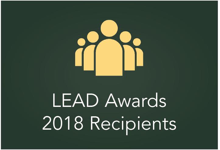 LEAD Awards 2018 Recipients